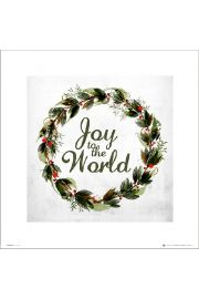 Christmas Wreath Joy - art print