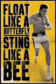 Muhammad Ali Float Like A Butterfly - plakat