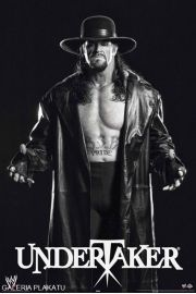 WWE Wrestling - Undertaker black and white - plakat