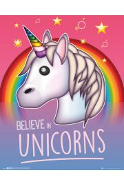 Emoji I Believe In Unicorns - plakat