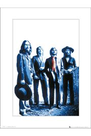 The Beatles Red Scarf - art print
