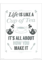 Life Like a cup of tea - art print