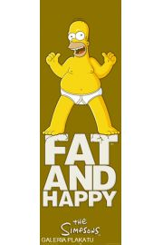 The Simpsons - fat and happy - Simpsonowie - plakat