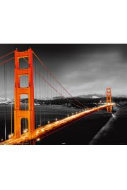 San Francisco - Golden Gate Nocą - plakat