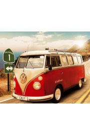 Californian Volkswagen Camper Route One - plakat