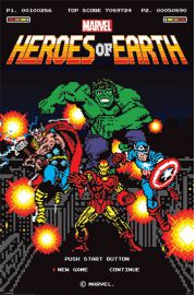 Marvel Comics Retro 8-Bit - plakat