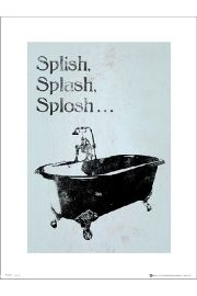 Bathroom Splish Splash Splosh - art print