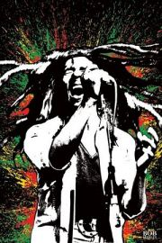 Bob Marley Paint Splash - plakat