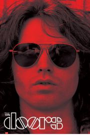 Jim Morrison - The Doors Red - plakat