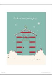 Christmas Hut Wonderful - plakat premium