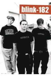 Blink 182 black AND white - plakat