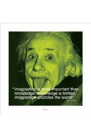 Albert Einstein I.Quote - Imagination - plakat premium
