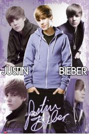 Justin Bieber Collage - plakat