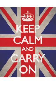 Keep Calm And Carry On (Union Jack) - plakat