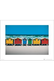 Beach Huts - art print