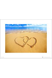 Beach Hearts - art print
