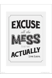 Typographic Excuse The Mess - plakat premium