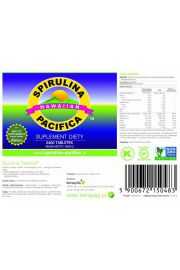 Spirulina Pacifica 500 mg (2400 tabletek) - suplement diety