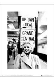 Marilyn Monroe Grand Central Station - art print