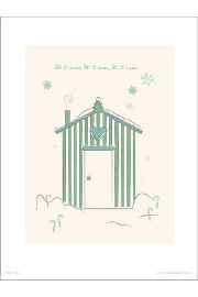Christmas Hut Snow - plakat premium