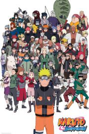 Naruto Shippuden Bohaterowie - plakat