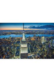 Nowy Jork Empire State Building nocą Jason Hawkes - plakat