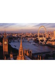 Londyn Panorama London Eye i Big Ben - plakat