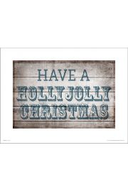 Holly Jolly Christmas - plakat premium