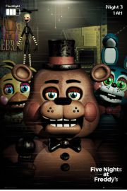 Five Nights at Freddys Bohaterowie - plakat