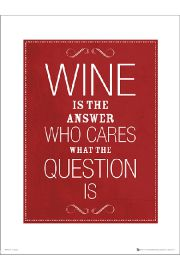 Wine Answer - art print