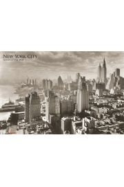 Nowy Jork 1931 Manhattan East River - plakat