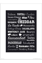 Cheese Type - art print