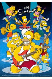 The Simpsons rock - plakat 3D