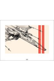 Gwiezdne Wojny tar Wars The Force Awakens X-Wing - plakat premium