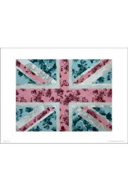 Union Flag Roses - art print