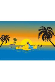 The Simpsons homer shark plakat 3D