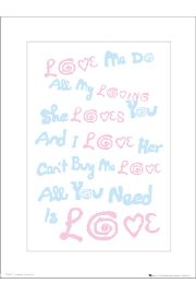 The Beatles All You Need Is Love Lyrics - art print