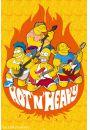 The Simpsons - hot AND heavy - plakat - Seriale