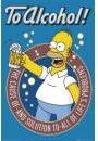 The Simpsons To Alcohol - Simpsonowie - plakat - Seriale