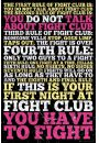 Fight Club Zasady - plakat - Kultowe