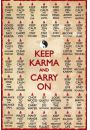 Keep Karma and Carry On - Zen - plakat - Plakaty. Motywacyjne