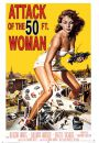 Attack of the 50ft woman - retro plakat - Plakaty z kobietami