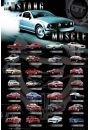 Ford Mustang Muscle - plakat